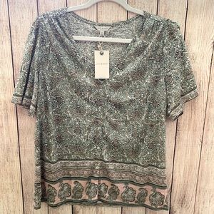 NWT Lucky brand button down blouse size large